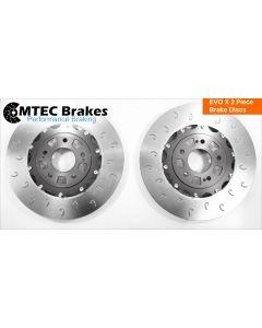 Mitsubishi Evo X (10) 2 Piece Front Brake Discs Plus Bells