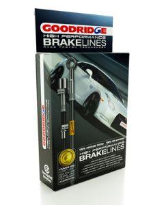 Audi 80 SII (1.6/1.6TD/1.8/1.9) + Sprt 1981 - 1986 Zinc Plated Goodridge Brake Hose SAU0101-4P
