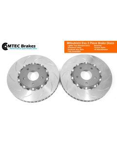 MTEC7001 - Mitsubishi Evo 2 Piece Front Brake Disc Plus Bells