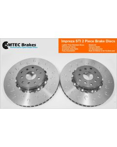 MTEC7002 - 2 Piece front brake disc and aluminium bells