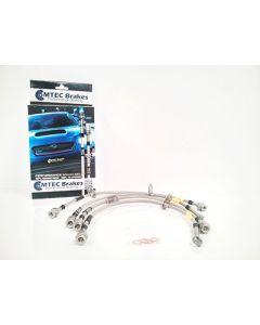 Hyundai Genesis Coupe 2008> Zinc Plated MTEC Performance Brake Hoses - HYU4P-2255