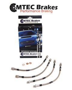 Honda Civic Rr.Disc 1996 - 2000 Zinc Plated MTEC Performance Brake Hoses HON4P-0560