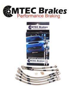 Nissan 370Z 2009 - 2012 Zinc Plated MTEC Performance Brake Hoses NIS6P-4108